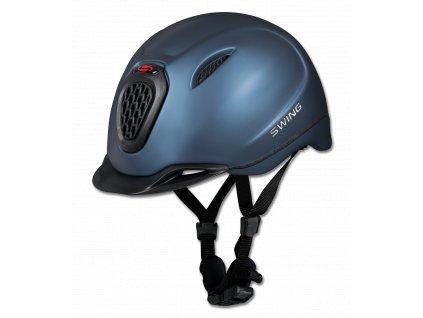 Jezdecká přilba Swing H11 Pro modrá matná 52-55cm