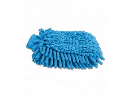 Čistící rukavice z mikrovlákna azurově modrá Waldhausen