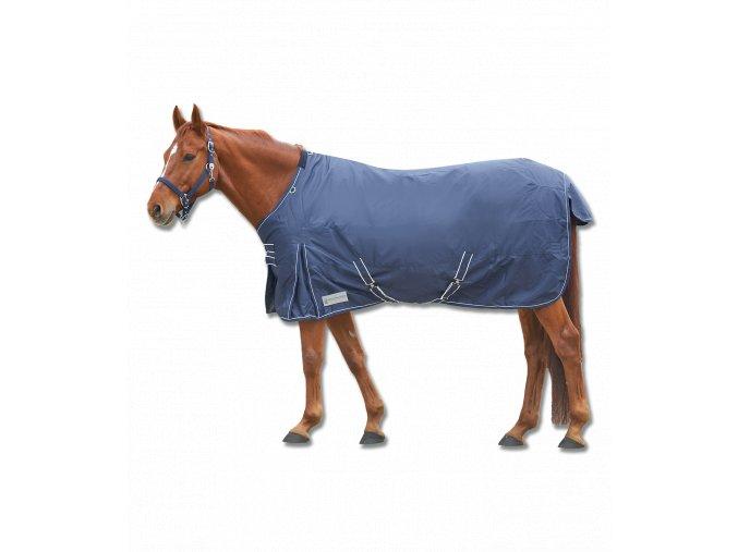DEKA VÝBĚHOVÁ ECONOMIC 100GR WALDHAUSEN TMAVĚ MODRÁ/BÍLÁ 125CM  Deky pro koně