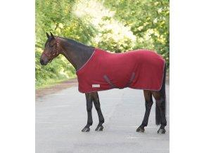 ODPOCOVACÍ DEKA FLEECOVÁ ECONOMIC RUST RED WALDHAUSEN  Deky pro koně