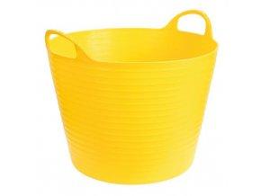Plastový kbelík FLEXI, 42 45 l žlutý