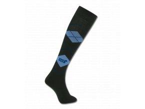 PODKOLENKY KAROVANÉ ELT BLACK/JEANS BLUE (Velikost S (35-38))