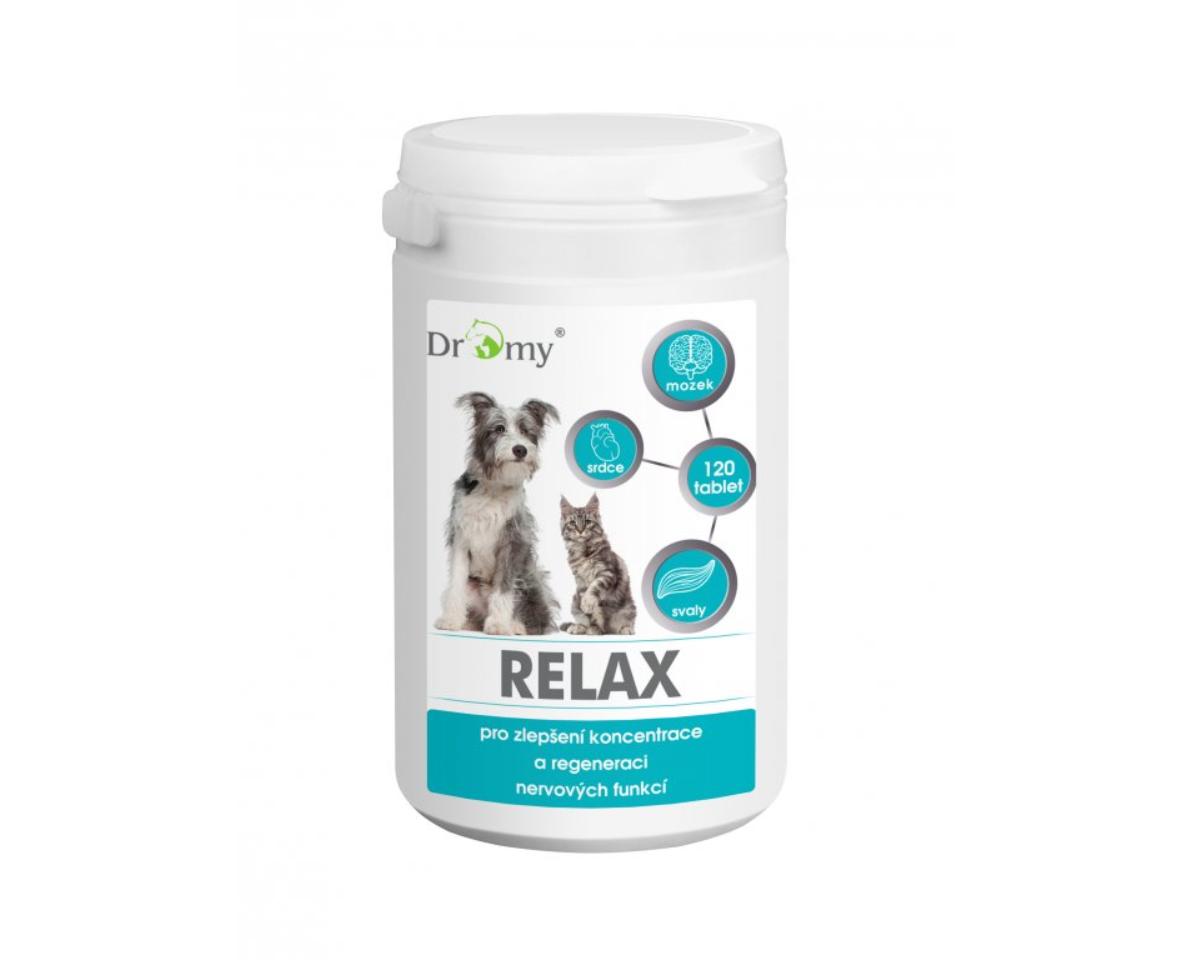 Dromy Relax 120 tbl. Vitamíny a doplňky stravy pro psy