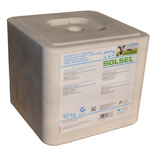Solný liz SOLSEL sůl kostka 10 kg