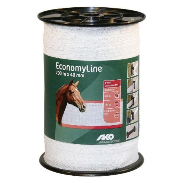 Polyetylenová páska pro elektrické ohradníky EconomyLine 40mm/200m