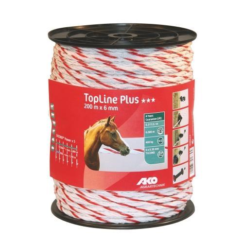 Polypropylenové lano pro elektrické ohradníky 6 mm TopLine Plus