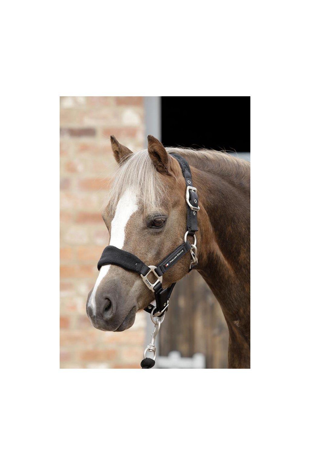 SS19 Pony Padded Fleece Head Collar Black Main Image RGB 72 zoom