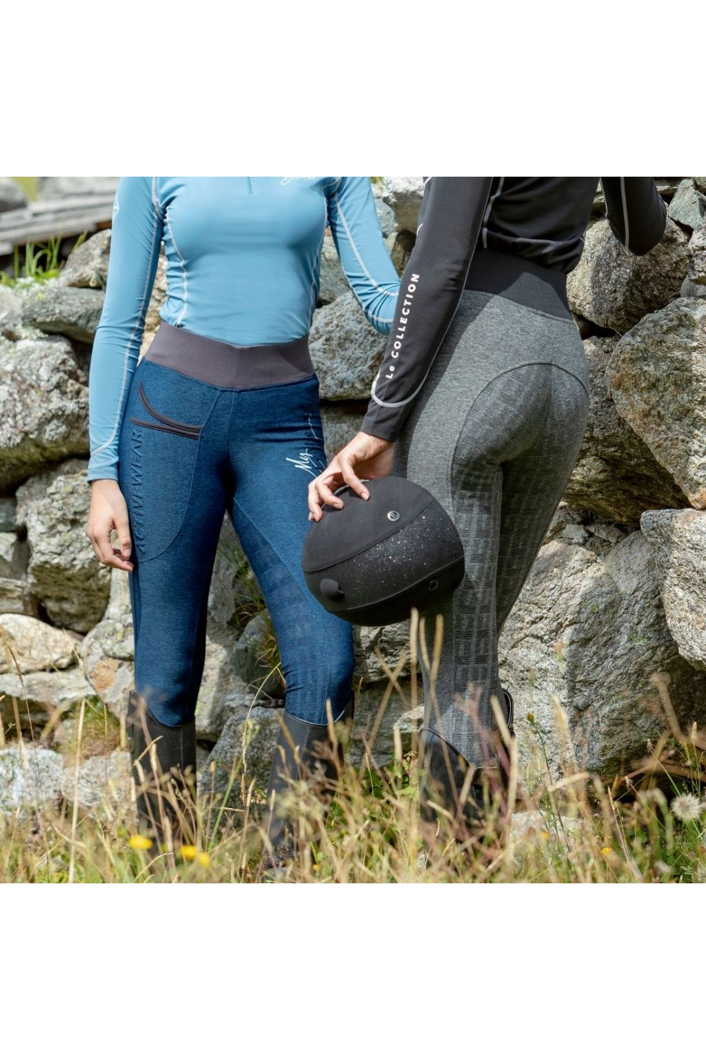 my lemieux ladies activewear pull on breeches grey3