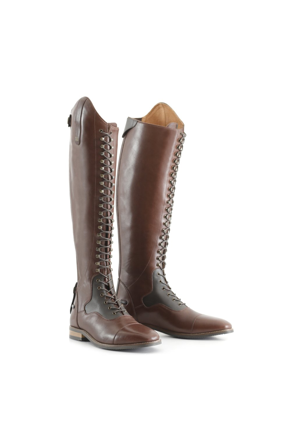 SS20 Maurizia Ladies Lace Front Long Leather Riding Boot Brown Main Image 72