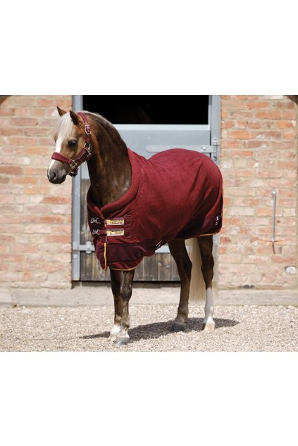 1 AW19 Buster Fleece Cooler Continental Pony Burgundy Main Image RGB 72 zoom