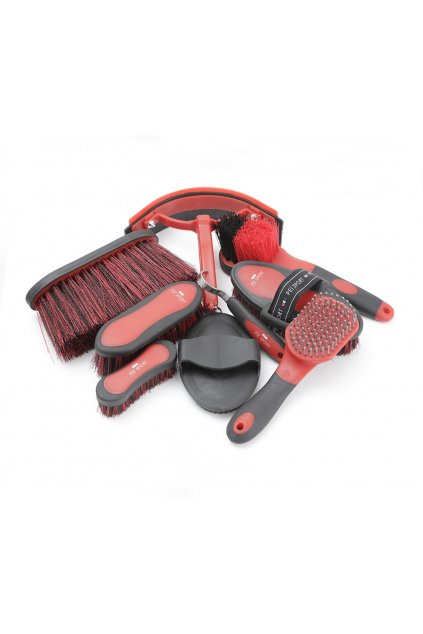 Red Black Deluxe Soft Touch Grooming Set 2 Webx900