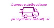 Doprava a platba zdarma při nákupu 800 Kč