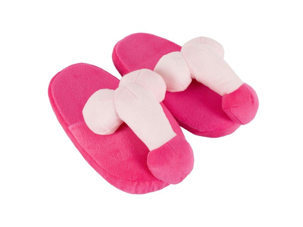 Plyšové pantofle Penispuschen pink