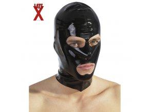 Latexová maska na hlavu s otvory