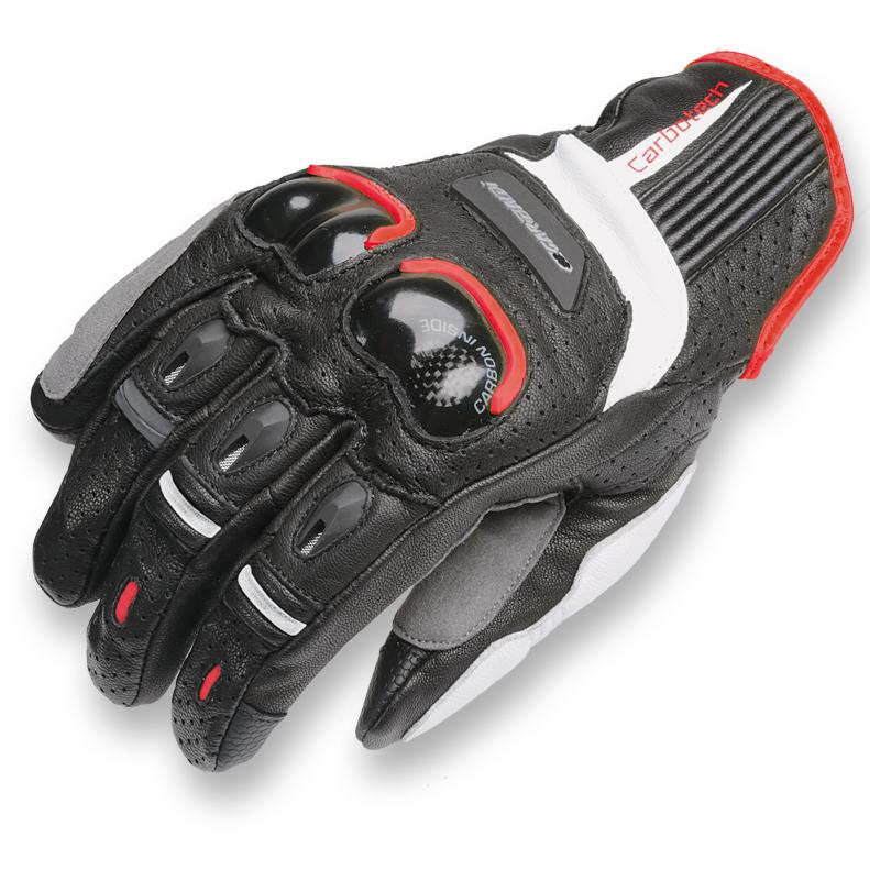 Sportovní kožené rukavice s kratší manžetou