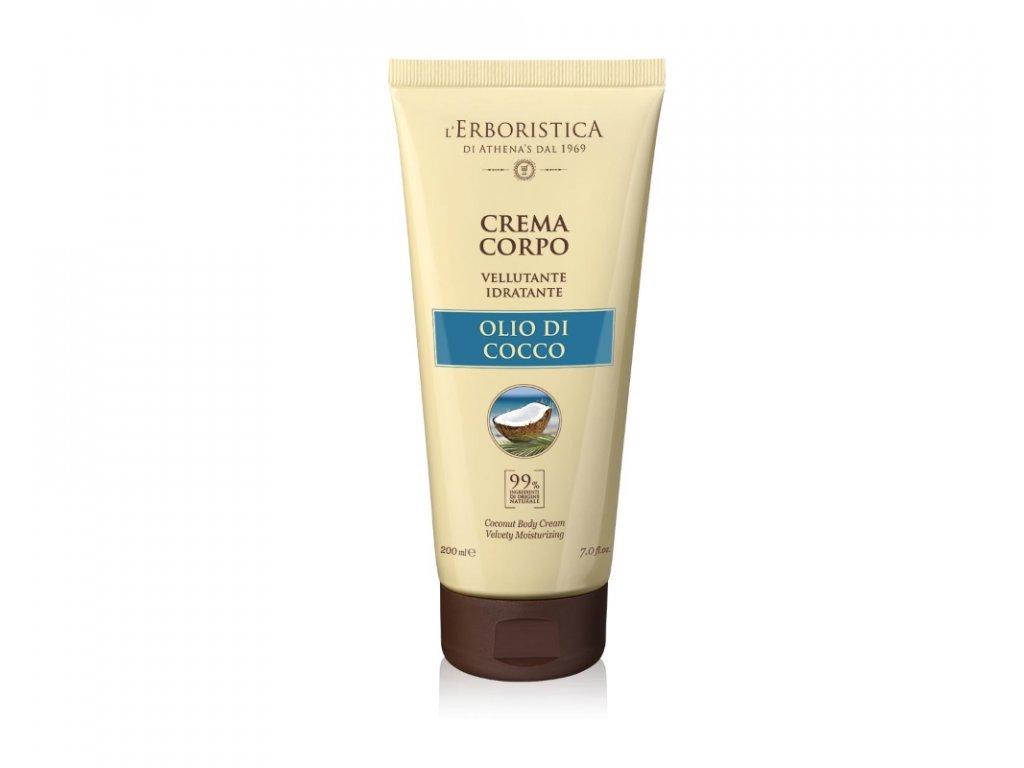 Erboristica COCCO Tělový krém hydratační s kokosovým olejem 200 ml