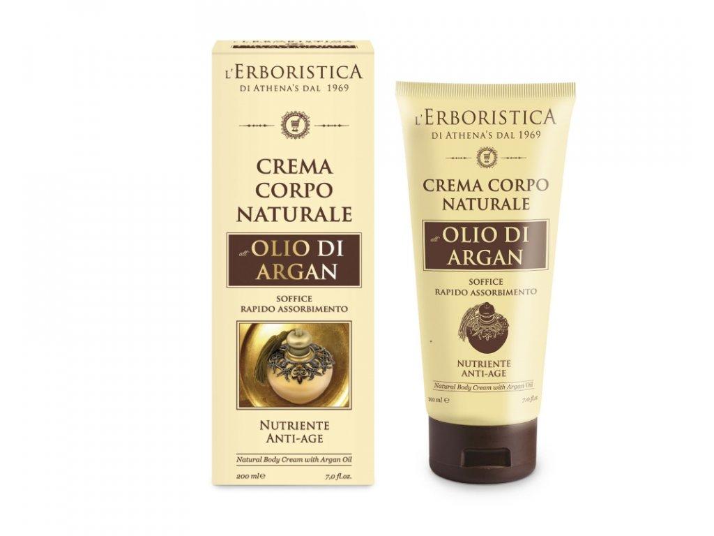 Erboristica Tělový krém zpevňující s arganovým olejem 200 ml