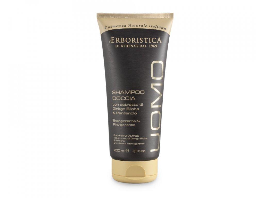 Erboristica Uomo Sprchový gel a šampon 2 v 1 pro muže povzbuzující 200 ml