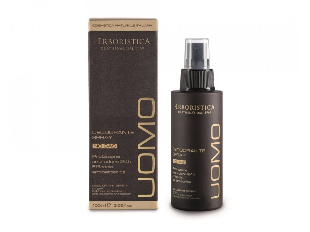 Erboristica Uomo Deodorant pro muže s Panthenolem s 24hodinovou účinností 100 ml