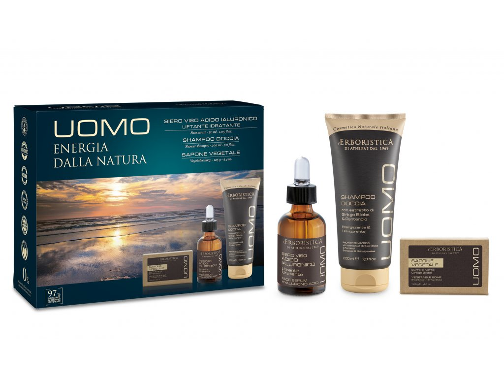 Erboristica UOMO kosmetická sada pro muže 3ks