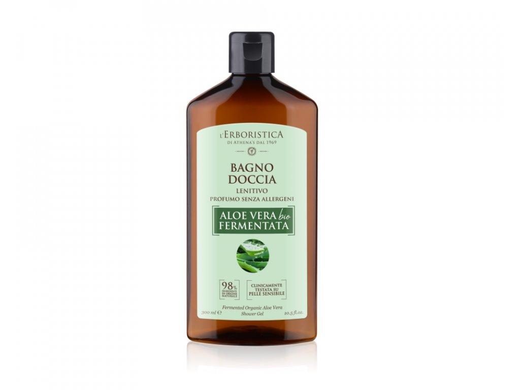 Erboristica Sprchový gel s fermentovanou aloe vera pro citlivou pokožku 300 ml