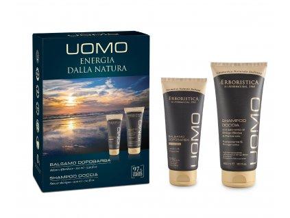 Erboristica UOMO kosmetická sada pro muže 2ks