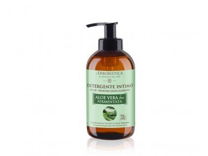 Erboristica Intimní mycí gel s fermentovanou aloe vera šťávou 250 ml