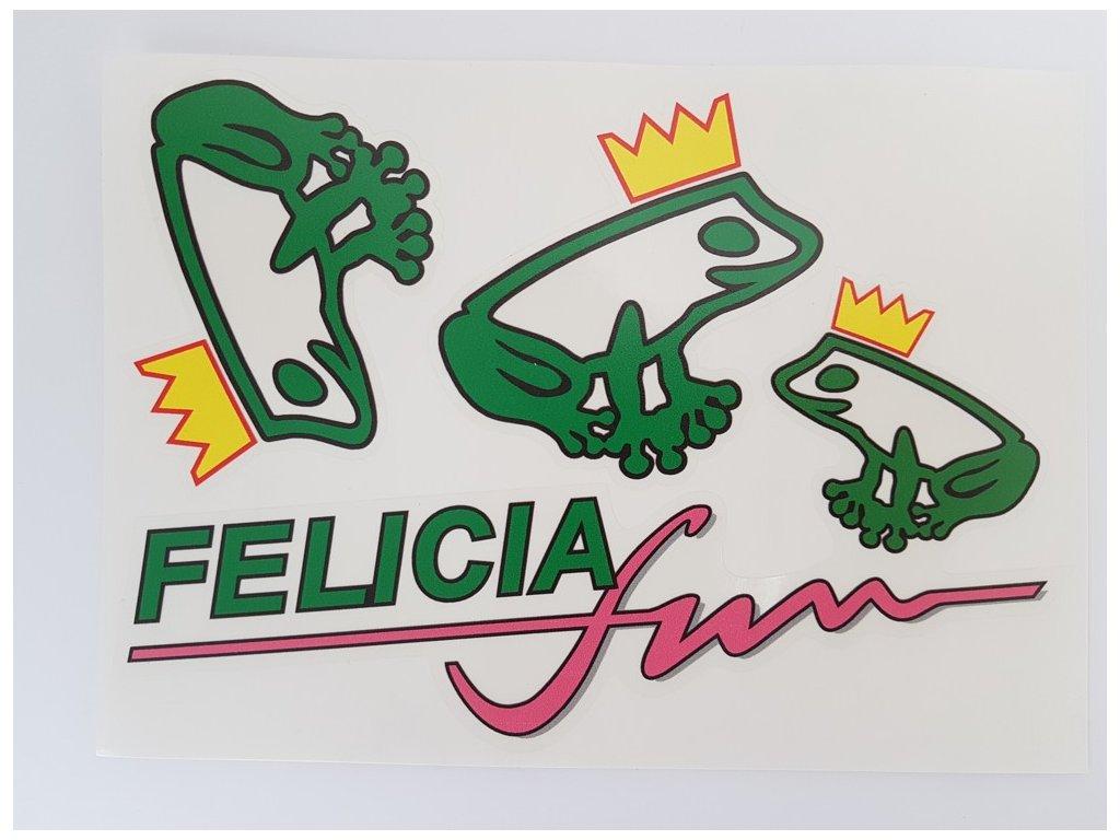Samolepka edice  Škoda Felicia Fun - sada žabek