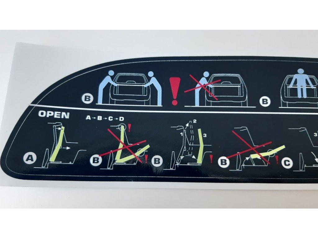 Samolepka Škoda Felicia Fun - návod na výklopnou stěnu