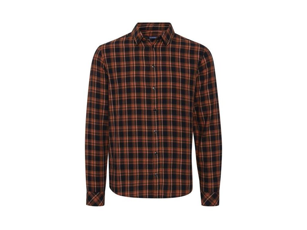Pánská košile Blend 20713284 181448 hnědá