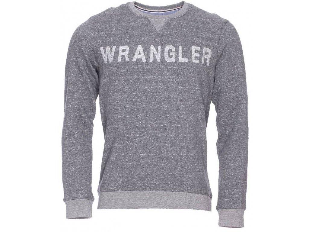 Pánská mikina Wrangler W6510 AA37 šedá