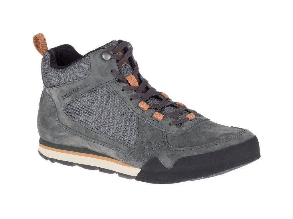 Pánské boty Merrell Burnt rock tura mid suede Granite šedá