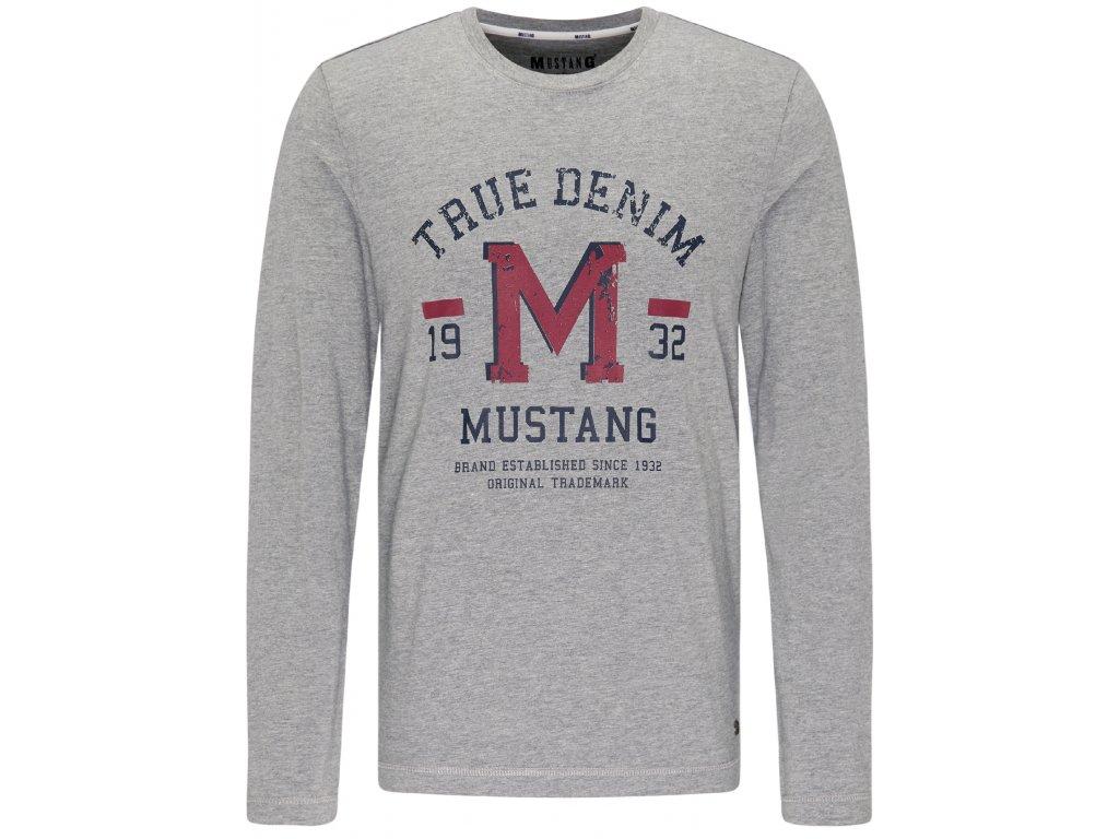 Pánské triko Mustang 1007873 4140 šedá