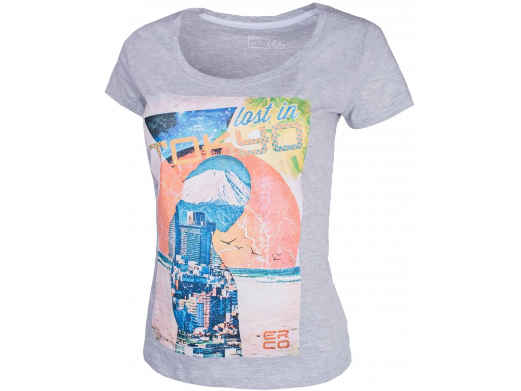 Dámské tričko ERCO TOKYO LGM šedá