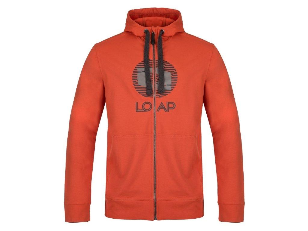 Pánská mikina Loap DAEK G54T oranžová
