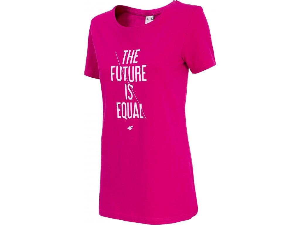 Dámské tričko 4F TSD007 D.pink růžová
