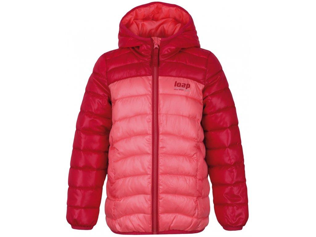 Dětská bunda Loap IMEGO E5E růžová