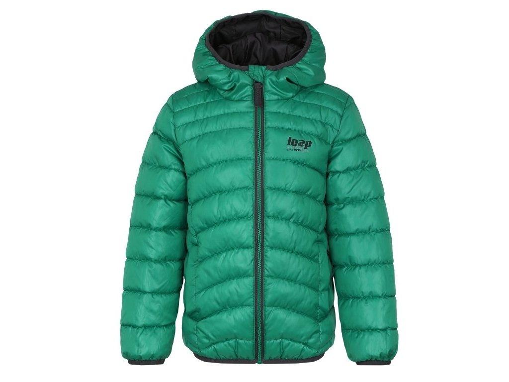 24051 loap infery detska zimni bunda zelena seda clk1956n83t
