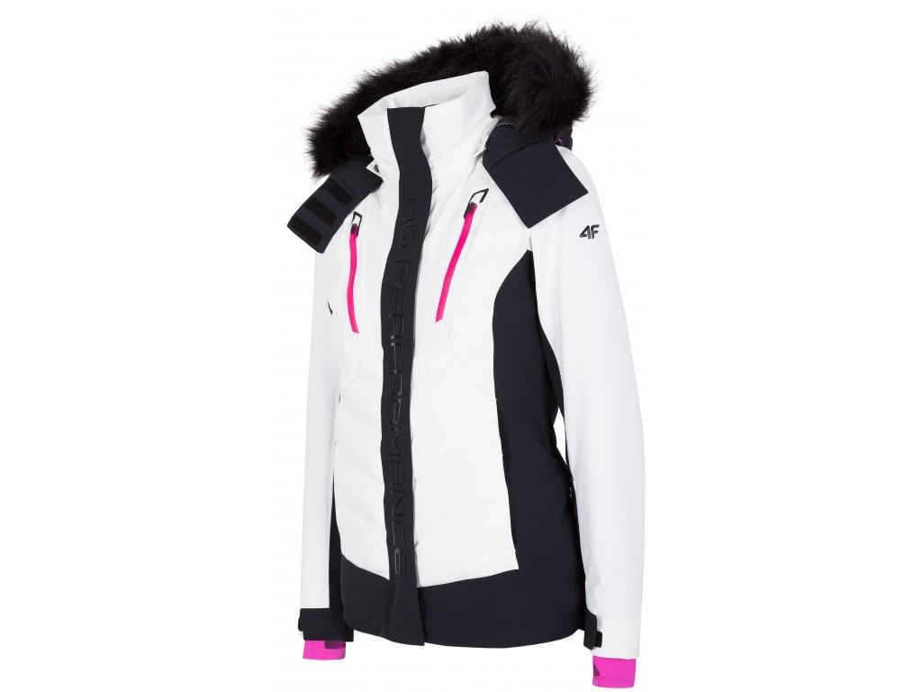 Dámská lyžařská bunda 4F KUDN010 White bílá
