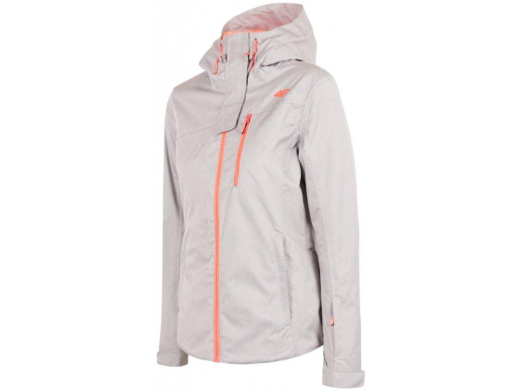 Dámská lyžařská bunda 4F KUDN060 Cold l. grey mel. šedá