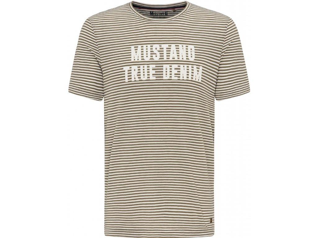 Pánské tričko Mustang 1007078 11237 šedá