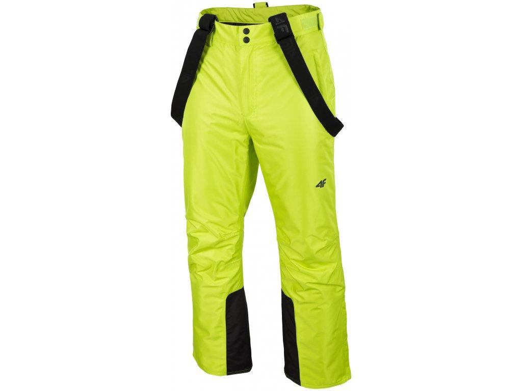 Pánské lyžařské kalhoty 4F SPMN001 Canary green žlutá