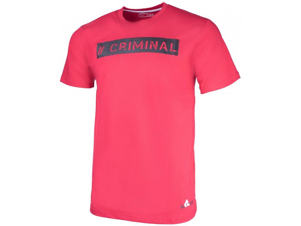 Pánské tričko ERCO CRIMINAL RED červená