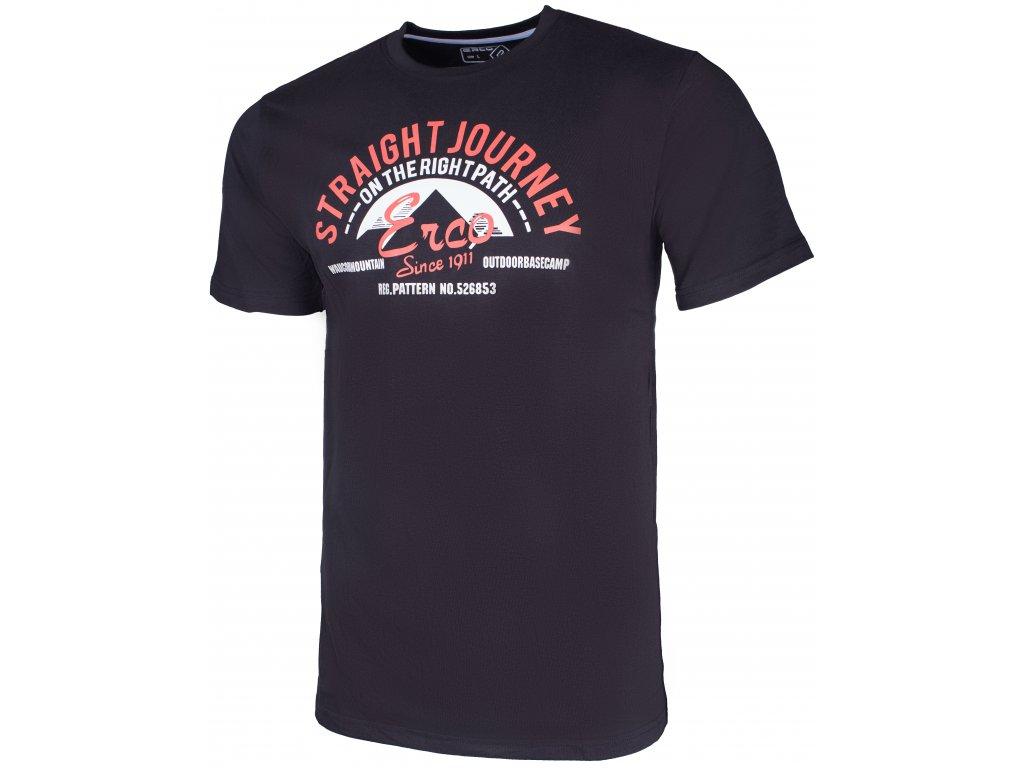 Pánské tričko ERCO GASTON BLK černá