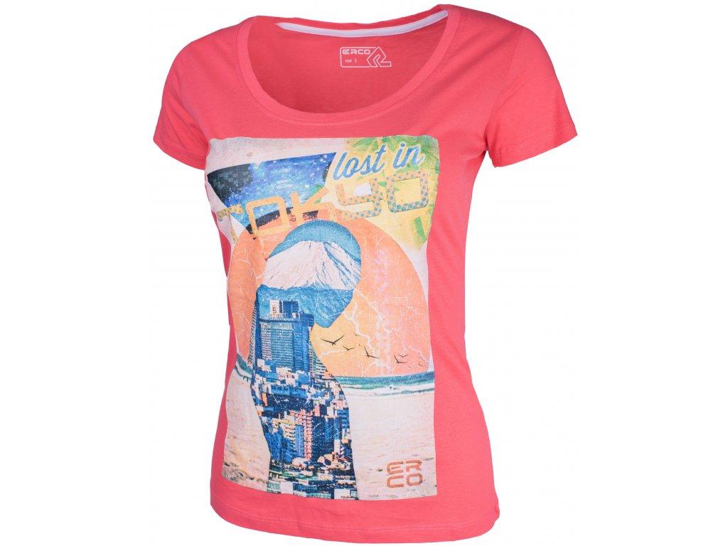 Dámské tričko ERCO TOKYO PNK růžová
