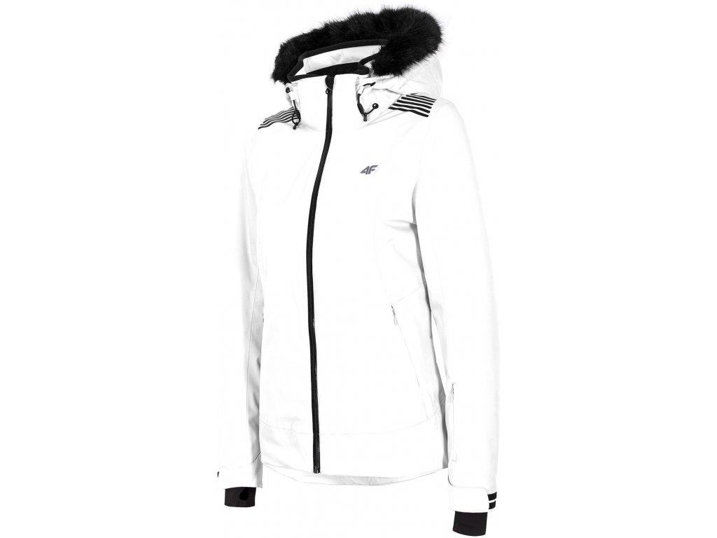 Dámská lyžařská bunda 4F KUDN008 White 10S bílá
