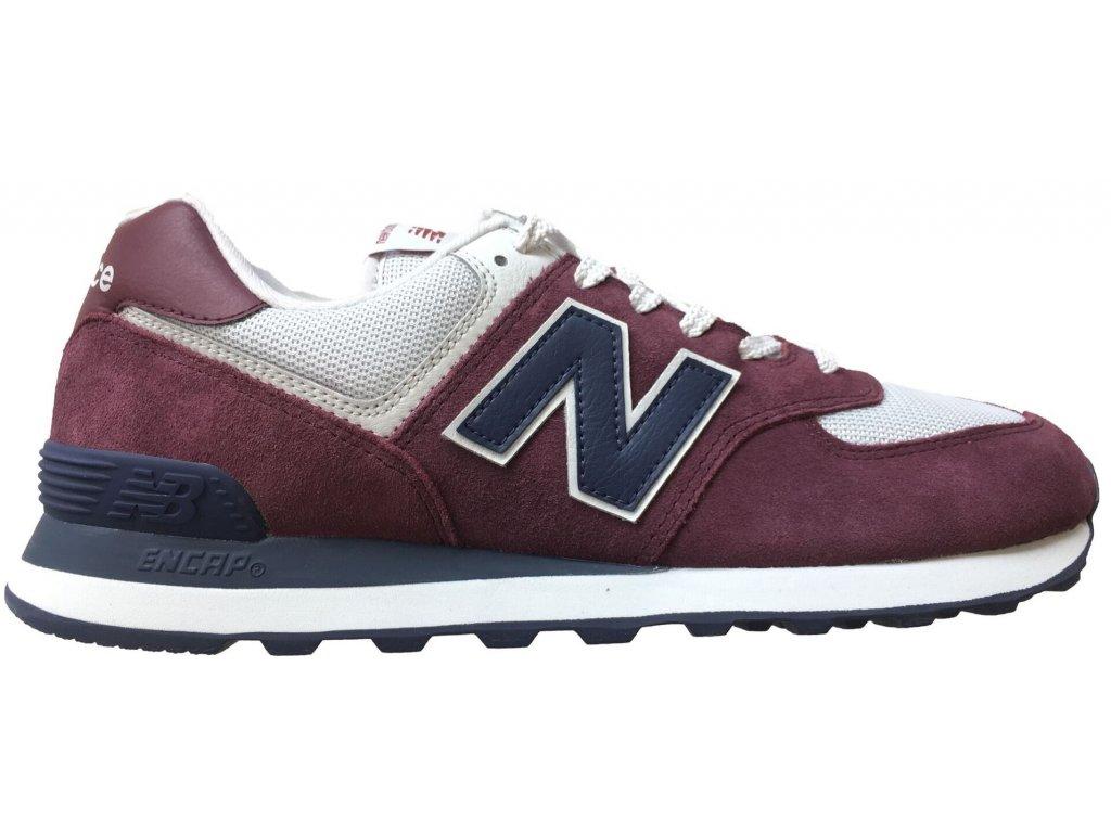 Pánská lifestylová obuv New Balance ML574 ESW červená