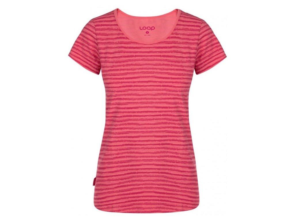 Dámské tričko Loap ADERINA J24JY růžová