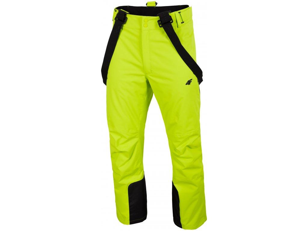 Pánské lyžařské kalhoty 4F SPMN012 Canary green žlutá