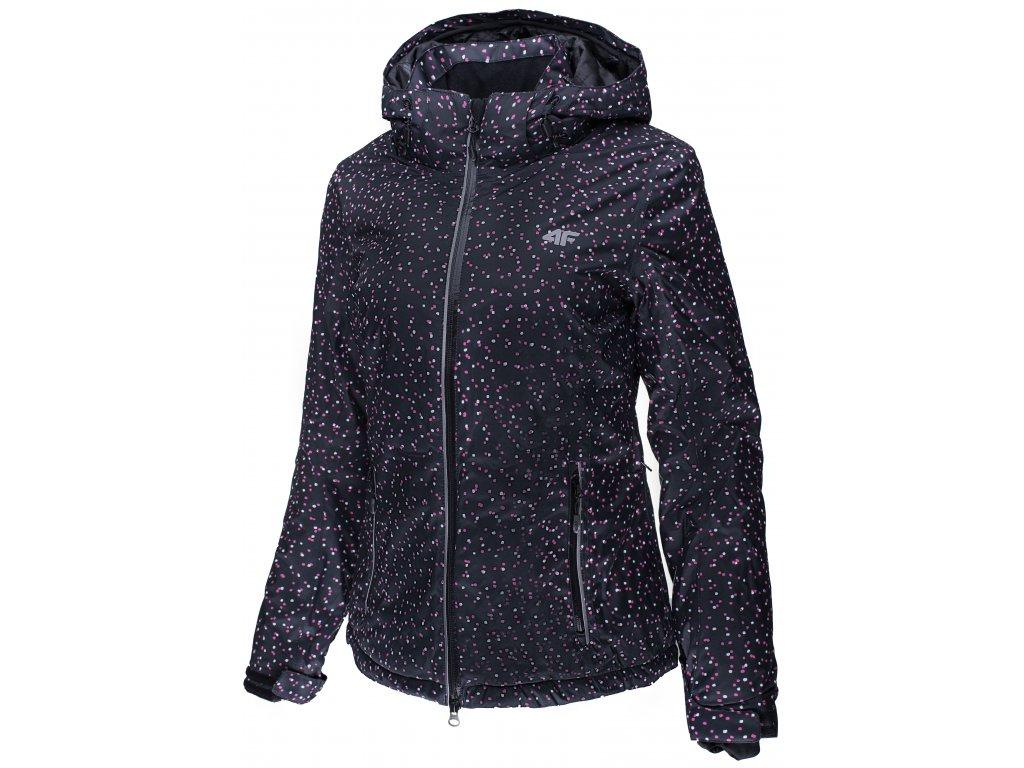 Dámská zimní bunda 4F KUDN009 Allover Dost černá